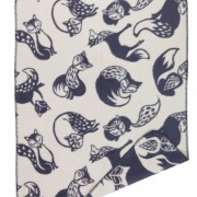 grey_sand super soft blanket with foxes that have 5 different tails