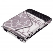super soft and worm black and white blanket / bed throw design Landscape for a graphical and modern ethnics style-lover