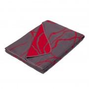 organic cotton blanket grey / neon red design Mist