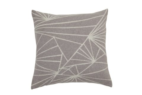 grey knitted wollen cushion with a modern pattern Frozen premuim quality knit made in Denmark