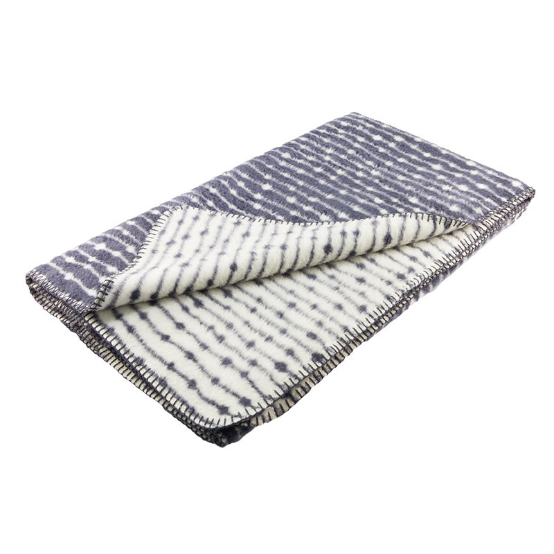 soft cotton throw blanket dark grey minimalist graphical Scandinavian design