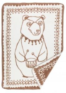 Cute Circus bear design on a super soft organic cotton blanket