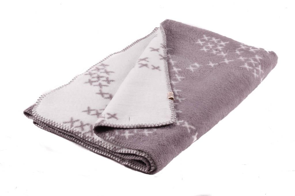 classic Scandinavian design grey blanket in soft organic cotton