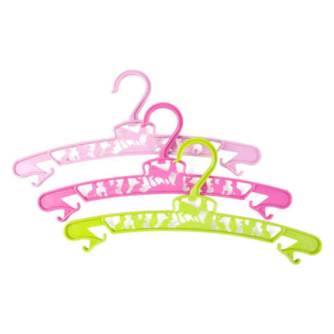 Hookie hangers junior gift set - 3 color mix: bright pink, pale green and pik