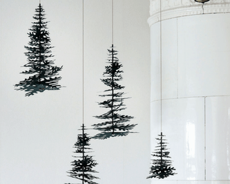 Christmas tree paper decorations