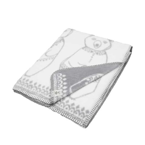 soft blanket in organic cotton with Greenland bears design