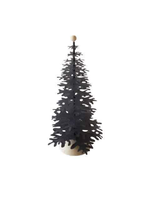 black-medium size paper decoration Christmas tree