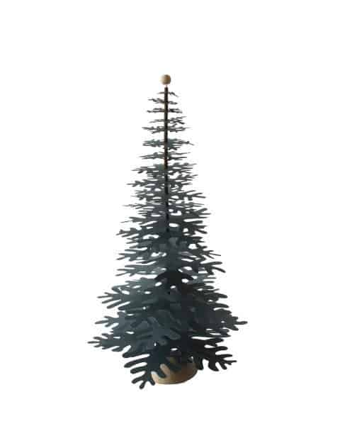 green-big Christmas tree paper decoration