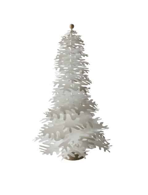 white big paper tree for Christmas decoration