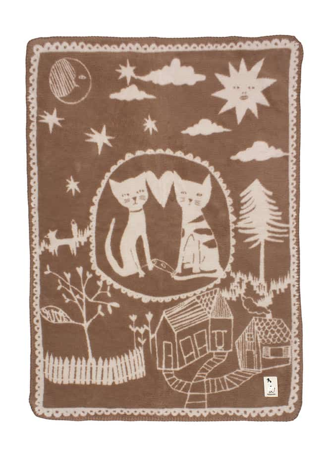 Luxury Baby Blanket With Cats Love Story Fabulous