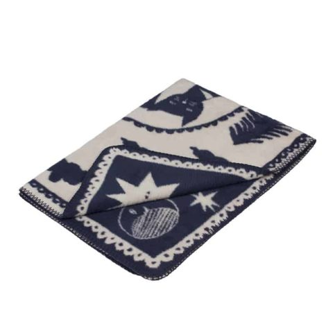 designer baby blanket in super soft organic cotton with cats