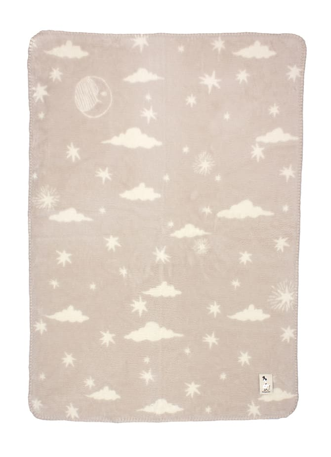 unisex baby blanket soft and fluffy in organic cotton