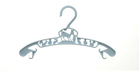 baby clothing hanger light blue
