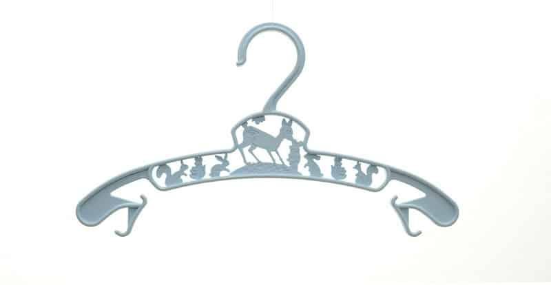baby clothing hanger light blue