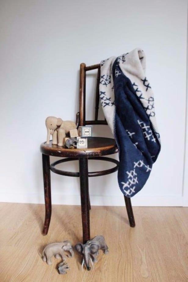blue baby boy blanket is soft organic cotton