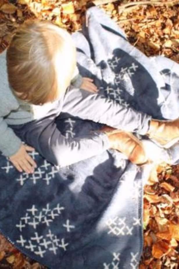 classic Scandinavian design boy blanket blue