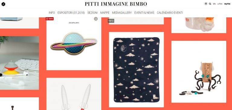 Pitti Bimbo 86 Los in Space trendzone Night Sky baby blanket