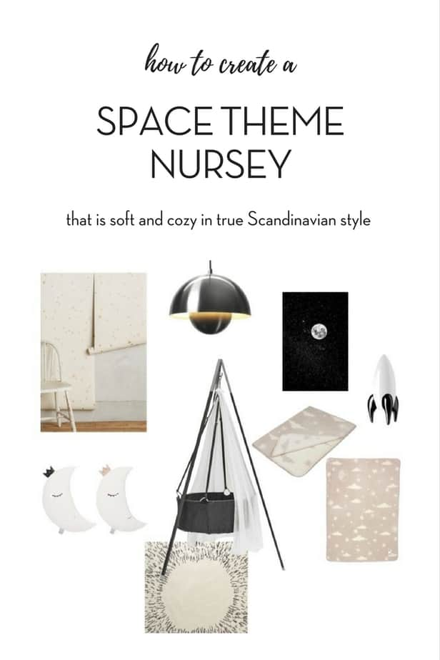Space theme nursery that is soft and cozy