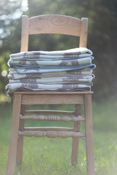 Soft organic cotton blankets perfect for spring and summer evenings outside