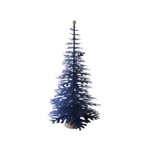 Dark blue paper Christmas tree that you can assemble easy
