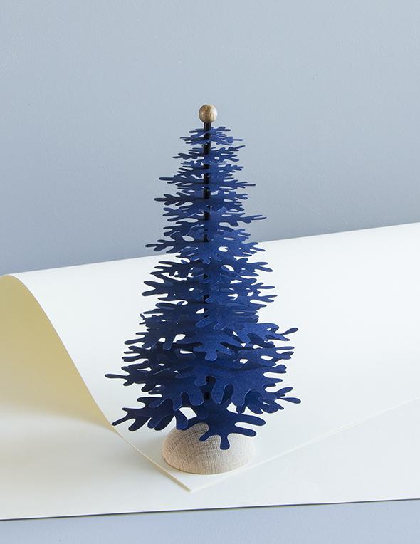 3d Christmas Tree.3d Christmas Paper Tree Decoration Kit Dark Blue Medium