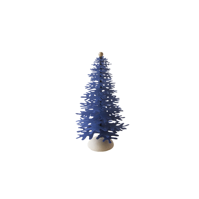 Dark blue paper Christmas tree - 3D easy to make decoration