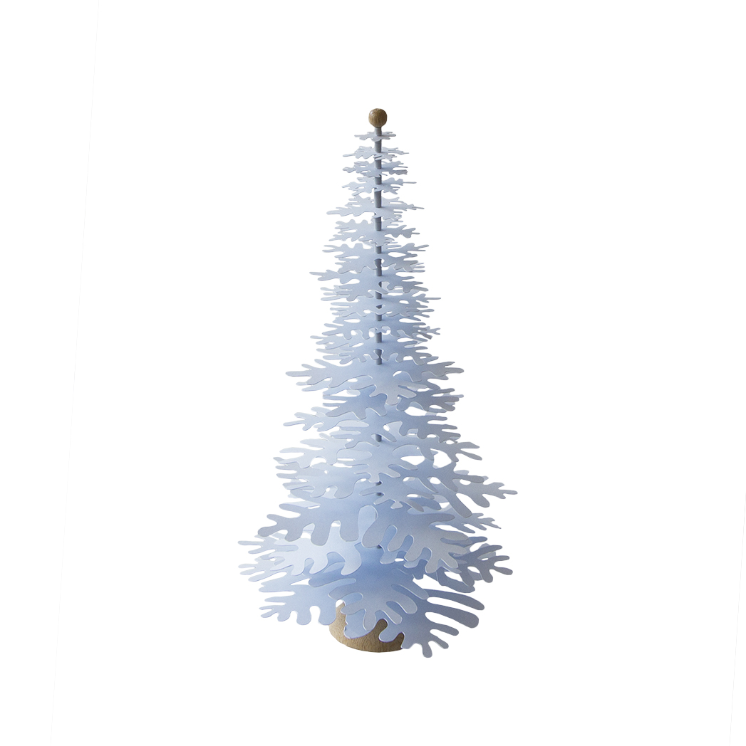 Light Blue Metallic Paper Christmas Tree 3d Decoration Big Fabulous Goose Scandinavian Interior Design Products To A Discerning Client