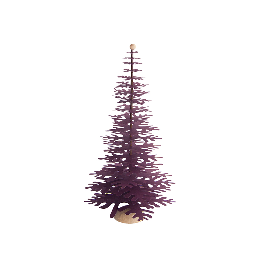 This tree in claret red will add elegance of the creative imagination to any space.