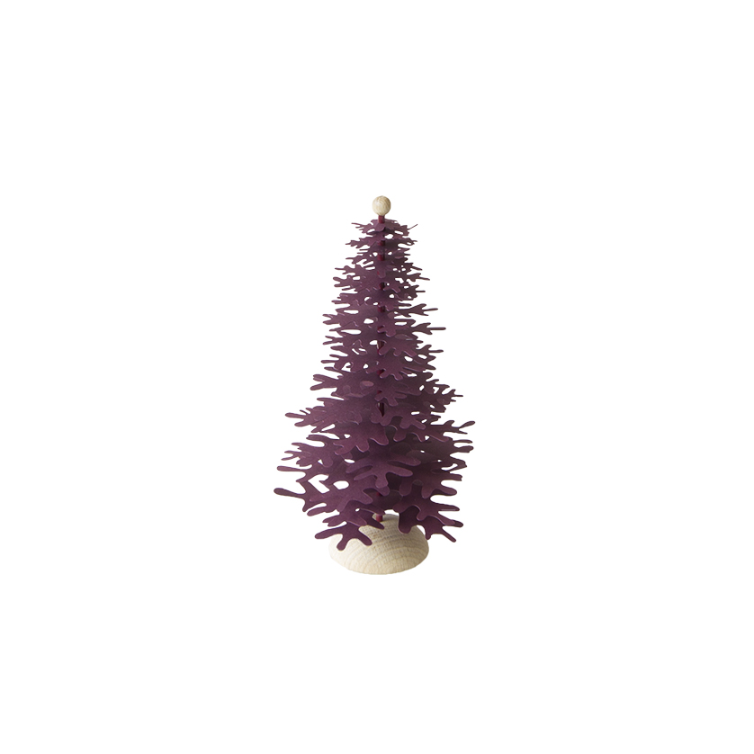 Minimalist Christmas.Minimalist Christmas Tree Claret Red 3d Paper Decoration Kit Medium