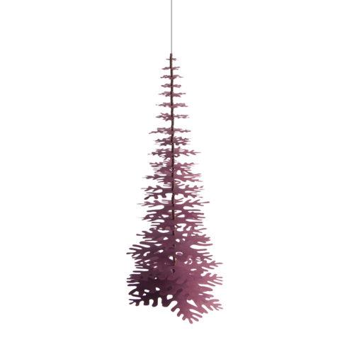 Minimalist-Christmas-Tree-claret-red-paper-decoration-kit