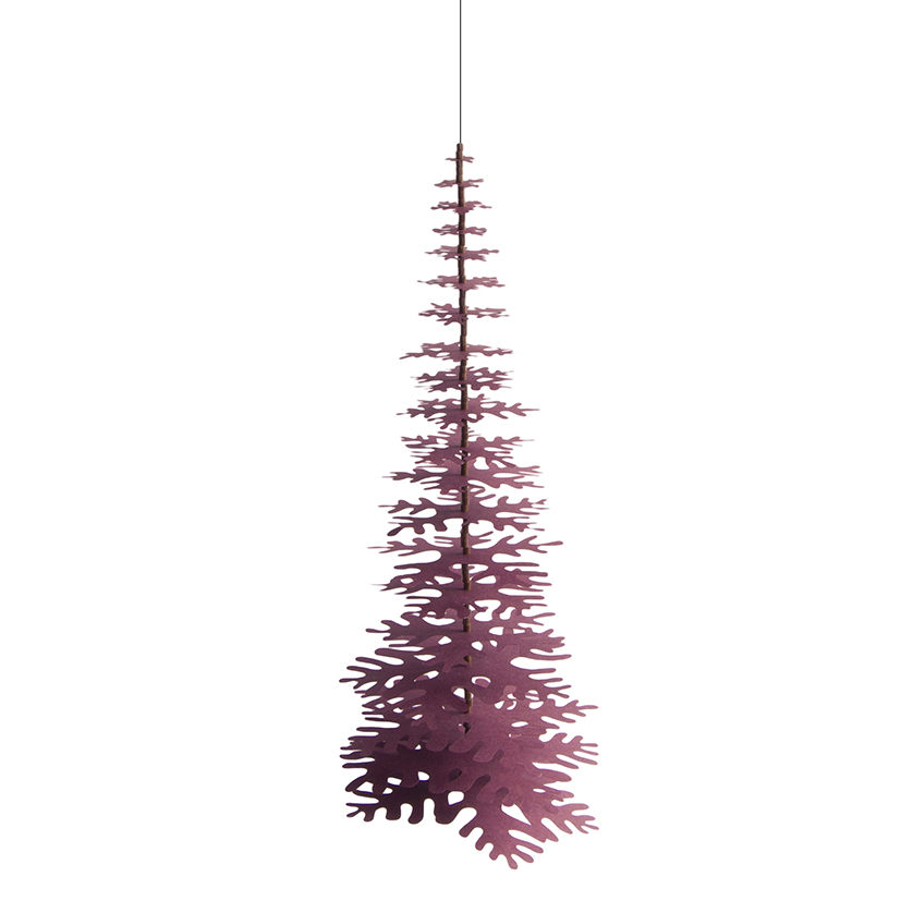 Minimalist Christmas.Minimalist Hanging Christmas Tree Claret Red Paper Decoration Kit Big