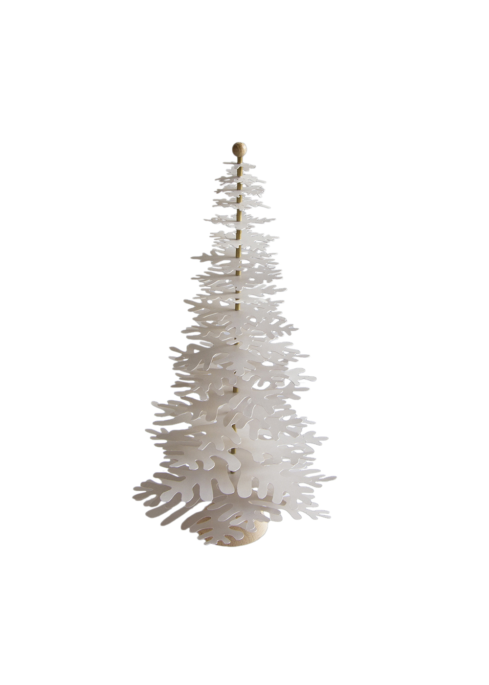 Modern Christmas Tree 3d Metallic Powder Gold Paper Decoration Big