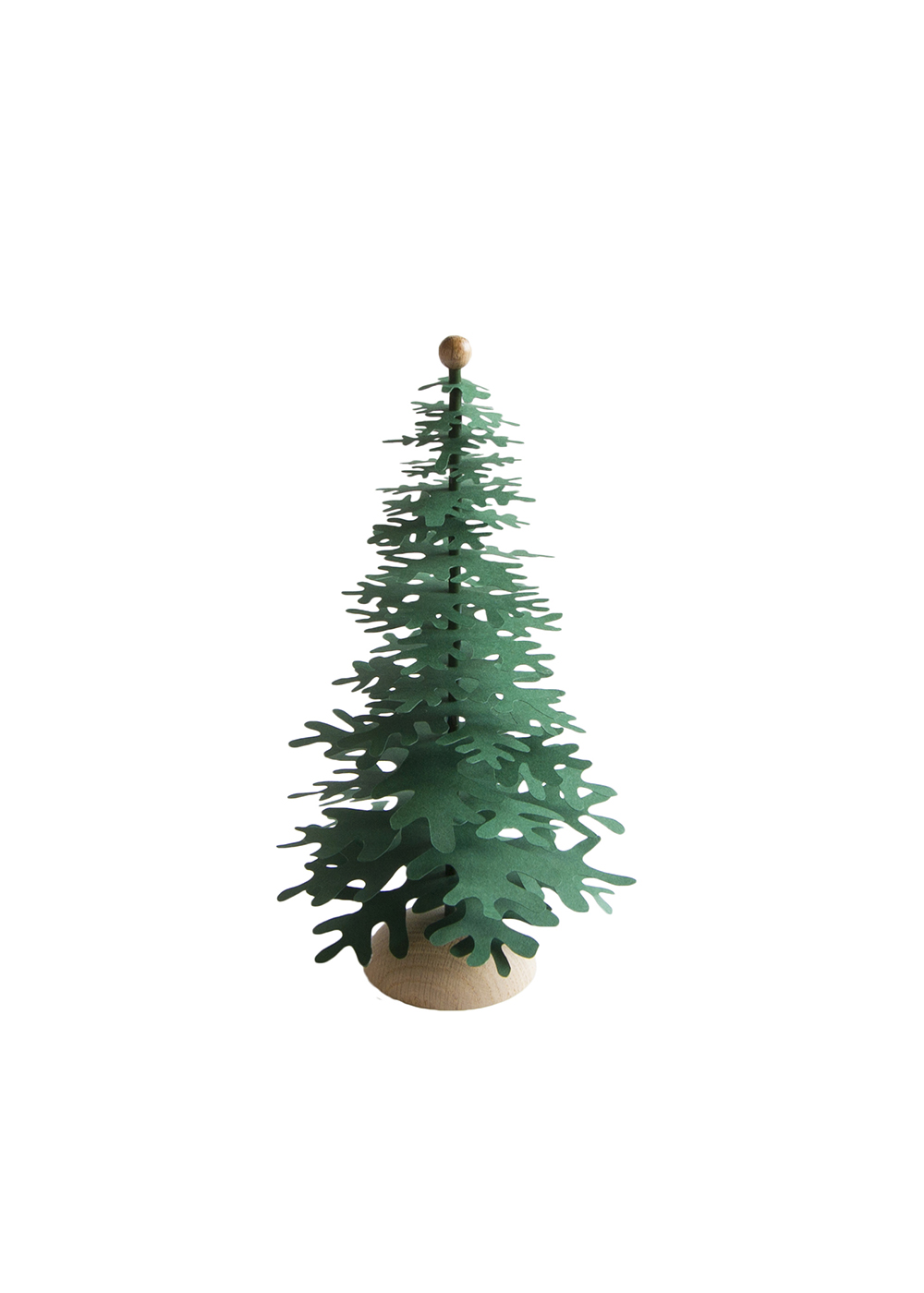 Modern Christmas Tree – forest green 3D paper decoration kit medium