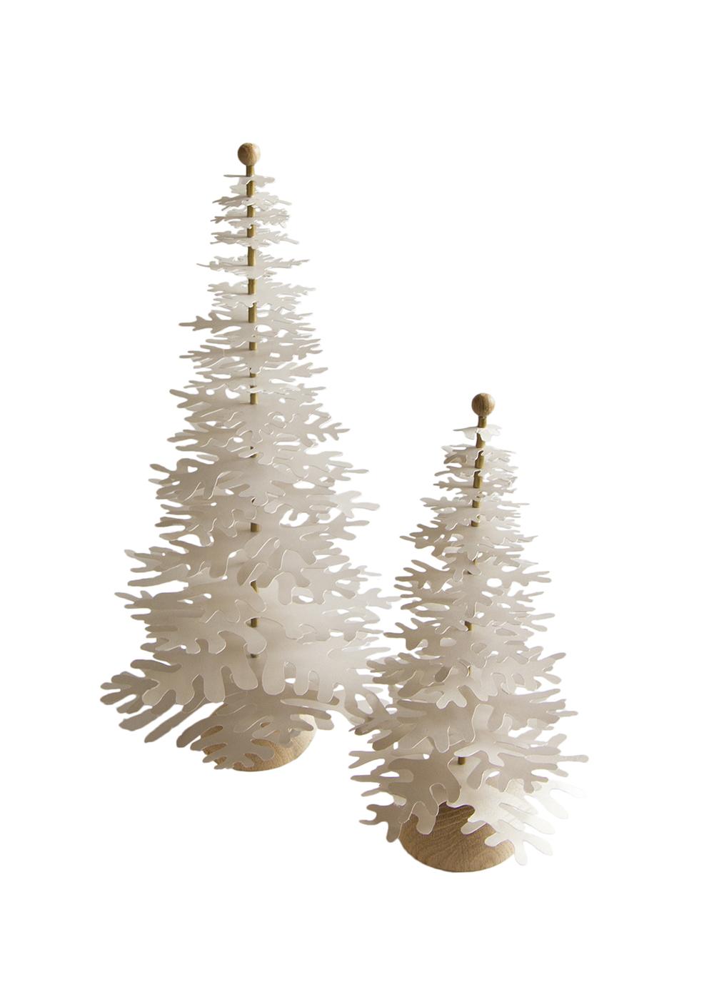 Modern Christmas Trees.Modern Christmas Tree Metallic Powder Gold 3d Decoration Medium