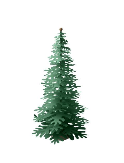 MinimalistChristmas Tree – forest green decoration kit big
